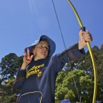 Doing archery at Allambee Camp